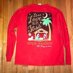 Simply southern red long sleeve shirt